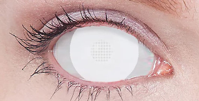 White Mesh Exodus Mini-Sclera Contacts