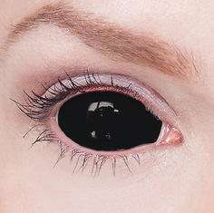 2-D Blackout eyes Sclera Contacts