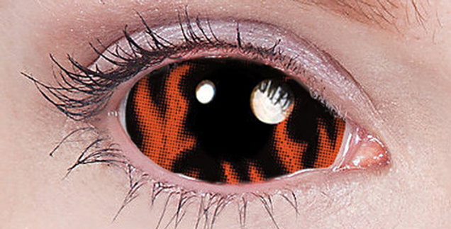 Warlock Fire Sclera Contacts