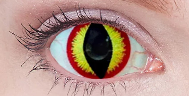 Smaug's Eye Mini-Sclera Contacts