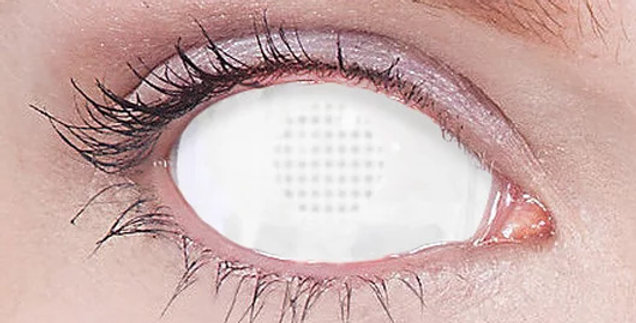 White Mesh Sclera Contacts