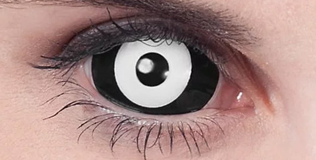 Medusa Black and White Sclera Contacts USA