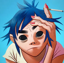 2-D with Black Scleras