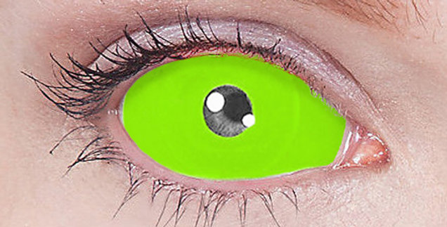 Green Cynosure Sclera Contacts