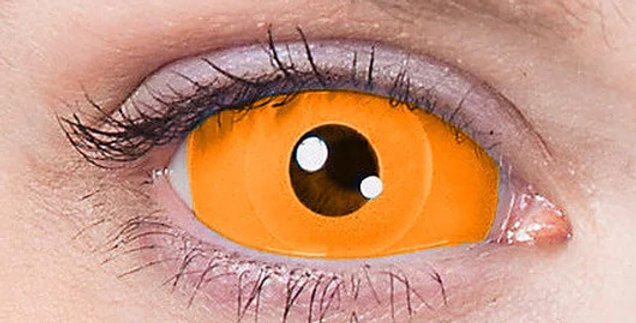 Orange Sclera Contacts