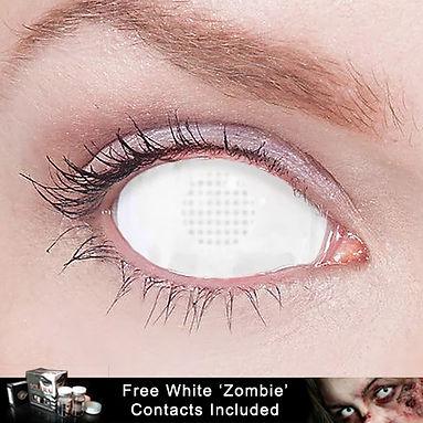 White Mesh Sclera Contact Lens
