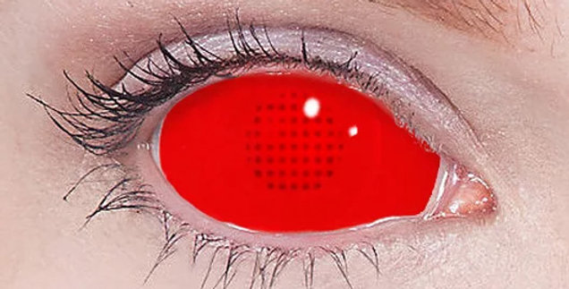 Red Mesh Sclera Contacts With Free Pair USA