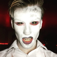 Xorn alien sclera contact lenses white body paint guy