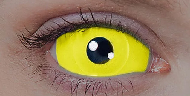 UV Yellow Sclera Contacts