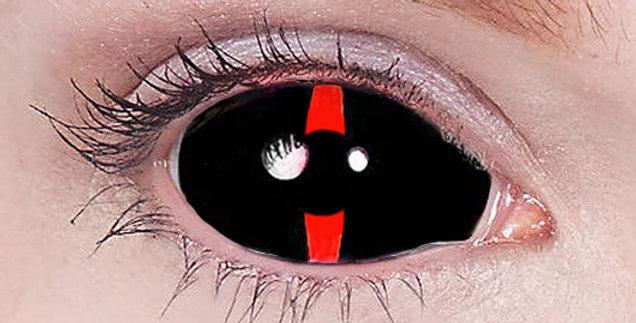 Redlash Closeup of black and red scleras USA