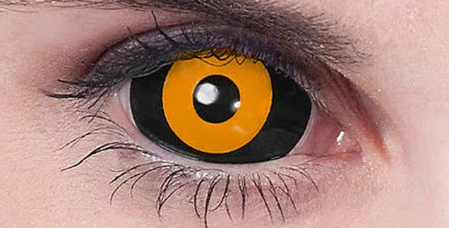 Orange Ghoul Sclera Contacts