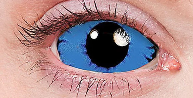 Night King White Walker Game of Thrones blue and black sclera contact lenses