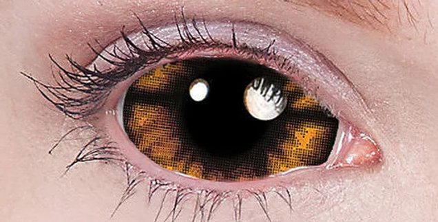 Morbius Flames Fire Sclera Contact Lenses USA 22mm