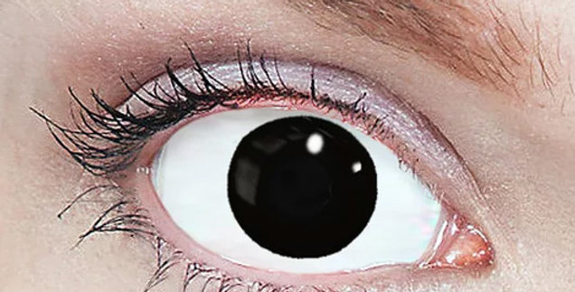 Black Blindfold contact lenses