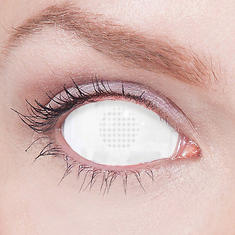 2-D Gorillaz whiteout eyes Sclera Lenses