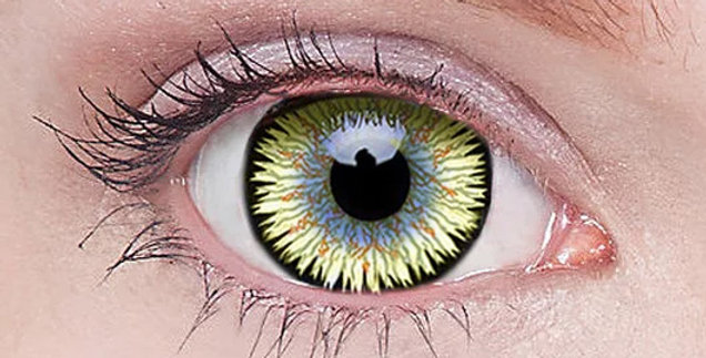 Orbitron green natural looking anime eyes 17mm mini sclera contacts