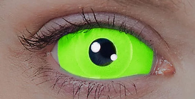 UV Green Sclera Contacts