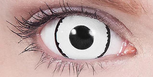 Veus black and white mini sclera contacts