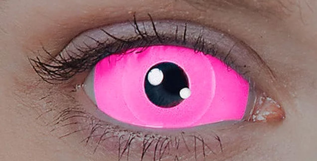 Ultra Violet UV Pink Raiden Sclera Contacts USA
