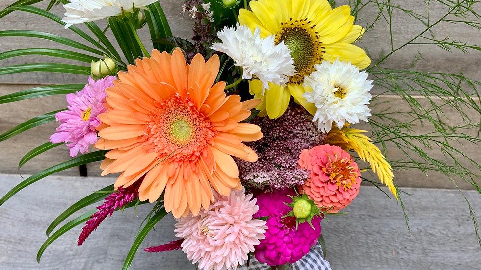 Summer Mixed Mason Jar Bouquet