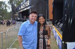 With Steve Dorning