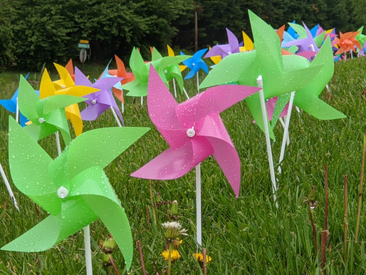 Pinwheels on Calvary Hill - National Day of Prayer