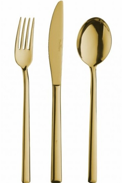 Coffee Cocktail Spoon,L: 14,8 cm  - Pintinox Synthesis Treasure Gold (set of 12)