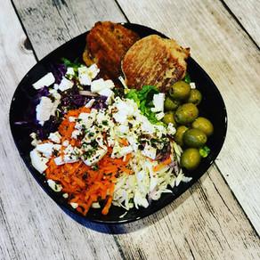 Linsenbratlinge, vegan oder vegetarisch, als Beilage