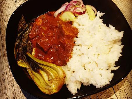 Veganes Tikka Masala - Tofu nach Tikka Masala Art