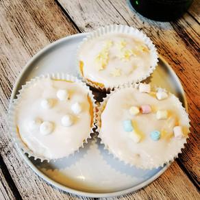 Zitronen Muffins für Erwachsene mit Gin Glasur
