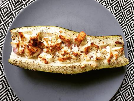 Gefüllte Zucchini mit Feta (oder Feto)
