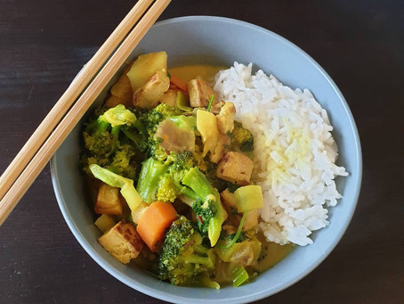 Veganes Curry mit Tofu