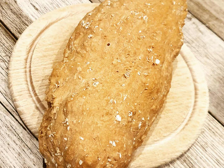 Haferflocken-Dinkel Brot mit Trockensauerteig