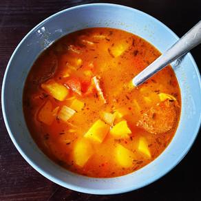 Süßkartoffel Eintopf mit Sucuk oder Chorizo