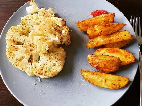 Kartoffelecken aus dem Backofen