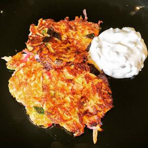 Gemüsepuffer mit Radieschen