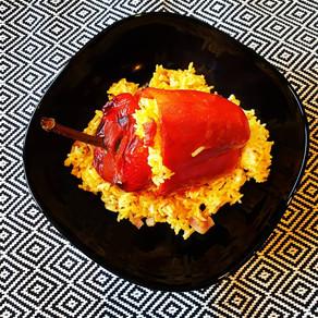 Vegetarisch Gefüllte Paprika und Zucchini