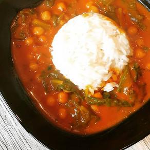 Indisches Curry mit Kichererbsen