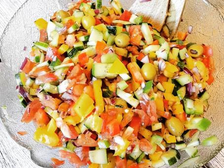 Griechischer Salat - vegan oder vegetarisch