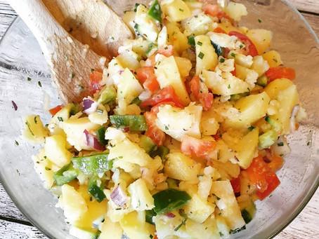 Resteessen bzw. leftover Kartoffelsalat