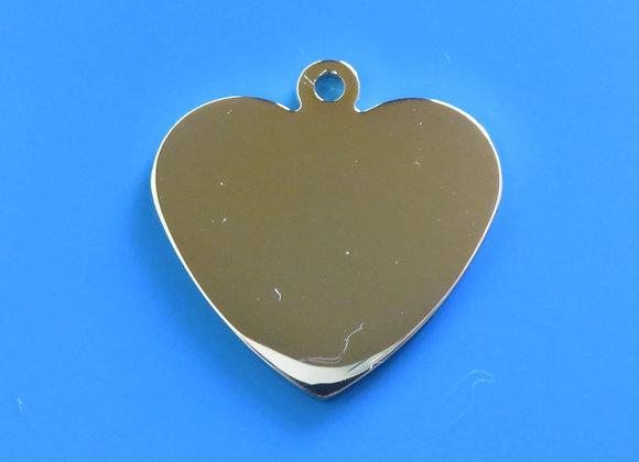 Luxury Heart Dog Tag