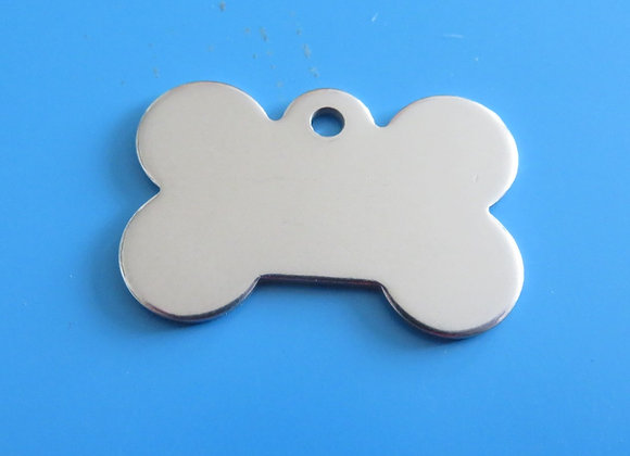 Bone Stainless Steel Dog Tag