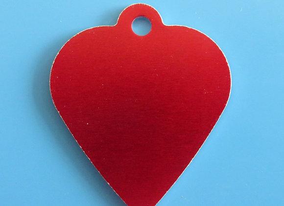 Large Heart Aluminium Dog Tag