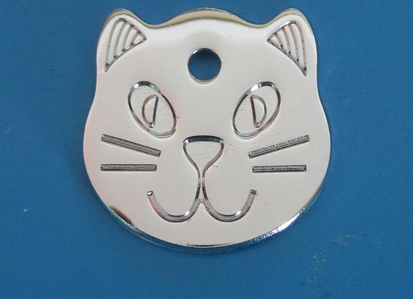 Cat Shaped Pet Tag