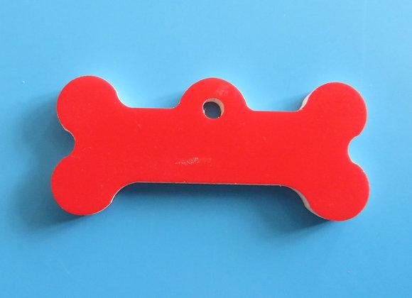 Acrylic Dog Tag - Small Bone