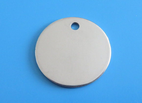 Round Stainless Steel Dog Tag