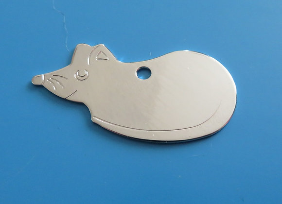 Brass Mouse Dog Tag