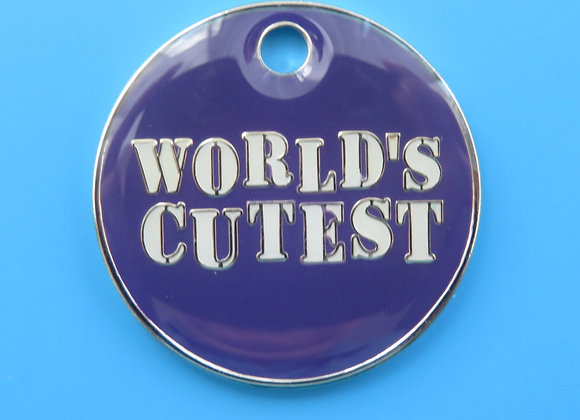 'World's Cutest' Novelty Pet Tag