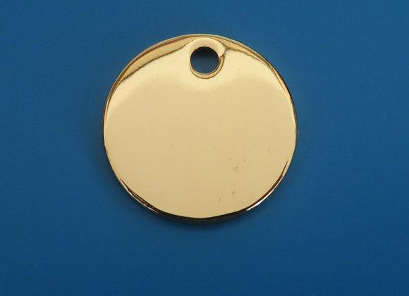 Round Brass Cat/Dog Tag