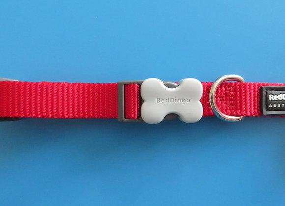 Red Dingo Plain Classic Dog Collar Small